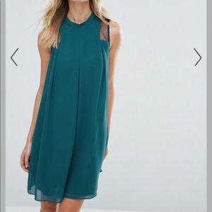 BCBGeneration deep green sleeveless swing dress